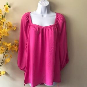 Banana republic pink long sleeve shirt top small